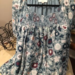Smocked front top